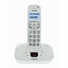 Logicom Téléphone sans fil solo CONFORT 155 T BLANC