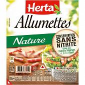 Herta allumettes nature conversation sans nitrite x2 150g