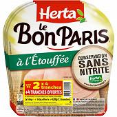 Herta le Bon Paris cuit à l'étouffée lot de 2x4 tranches + 4 offertes 420g