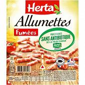 Herta allumettes fumées sans antibiotique 2x75g