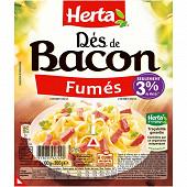 Herta dés de bacon fumés 2x100g