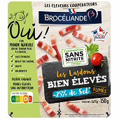 Brocéliande lardons bien élevés fumés -25%sel 2x75g