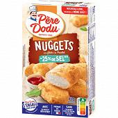 Père Dodu nuggets au filet de poulet -25% de sel 200g
