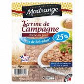 Madrange terrine de campagne dorée taux de sel réduit 150g