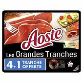 Aoste jambon cru grandes tranches 4 tranches + 1 offerte 125g