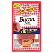 Cochonou bacon fumé au bois de hêtre 10 tranches fines +10% offert 110g
