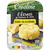 Créaline écrasé de pommes de terre beurre et sel de guérande 2x200g