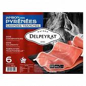 Delpeyrat jambon des Pyrénées 9 mois 6 grandes tranches 150g