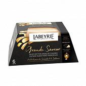 Labeyrie Bloc de foie gras de canard du sud-ouest avec morceaux au poivre 260g