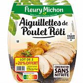 Fleury michon aiguillettes tranchées de poulet x2 + 20% offerts 360g