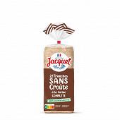 Jacquet pain de mie à la farine complète sans croûte 475g