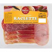 Berni assiette raclette (6tranches de rosette, 4tranches de jambon sec, 4 tranches de bacon) 180g