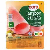 Cora jambon de Paris qualité supérieure sans couenne 4 tranches 180g