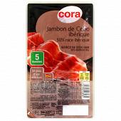 Cora jambon de Cebo ibérique 5 tranches 70g