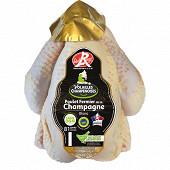 Eleveurs de Champagne poulet fermier blanc 1.5kg