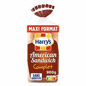 Harrys pain de mie american sandwich complet maxi 900g