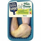 Le petit marché de Loué 2 cuisses de poulet jaune Plein Champ