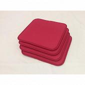 Anjosa lot de 4 galettes 40x40x1.7 cm polyc/lustrasil uni fushia n°7