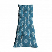 Coussin bain de soleil flock 190x60x8 cm polycoton/ultrasil elunia bleu