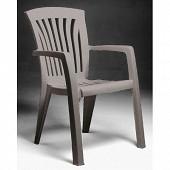 Nardi fauteuil Diana tortora empilable haut dossier 60x66x89cm