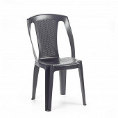 Chaise empilable tresse procida anthracite 48x52.5x81h cm
