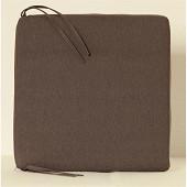 Anjosa galette carrée 38x38 epaisseur 4.5 cm gris dm