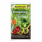 Algoflash terreau rempotage, plantes Vertes et plantes fleuries 6l