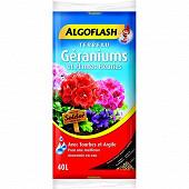 Algoflash terreau géraniums et plantes fleuries 40 litres