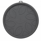 Soucoupe à roulettes 34.5 cm - gris anthracite
