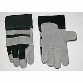 Gants cuir et spandex manutention avec coussinets et serrage poignet T 09