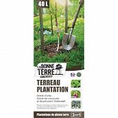 Terreau plantation utilisable en agriculture bio extrait d'ortie/consoude et biostimulant 40 litres