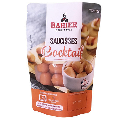 Regis Bahier Bahier saucisse cocktail 150g