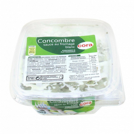 Cora concombres sauce au fromage blanc 300g