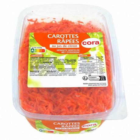Cora carottes râpées assaisonnées 500g