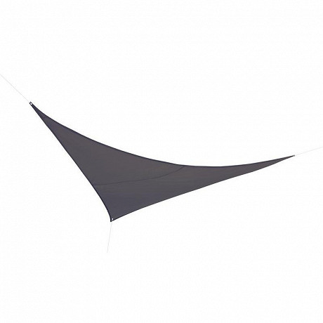 Voile d'ombrage triangulaire 3X3X3m en polyester 160g/m  coloris anthracite