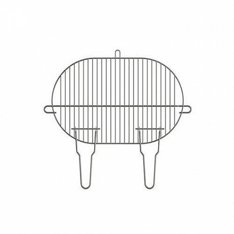 Verciel grille simple 50.5x33 cm acier chromé manche métal 2 poignées réf 495133 PR