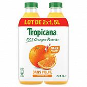 Tropicana pure premium orange sans pulpe pet 2x1.5l