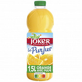 Joker le pur jus orange pulpee pet 1l5