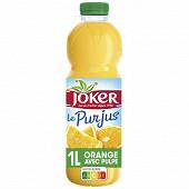 Joker 100% Pur Jus d Orange avec pulpe PET 1L