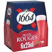 1664 fruits rouge 6x25cl 4.50% vol