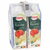 Cora pur jus de pommes brique 4x1l
