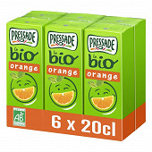Pressade nectar bio orange 6x20cl