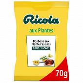 Ricola Plantes sans sucres (avec extrait de stevia) sachet 70g