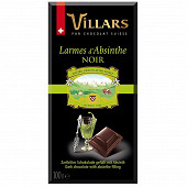 Villars tablette chocolat noir larmes d'Absinthe 100g