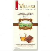 Villars tablette chocolat au lait larmes de rhum 100g