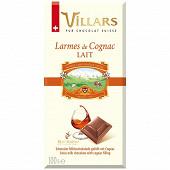 Villars tablette chocolat au lait larmes de cognac 100g