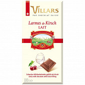 Villars tablette chocolat au lait larmes de Kirsch 100g