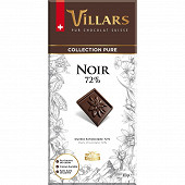 Villars tablette chocolat noir dégustation 100gr