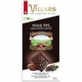 Villars chocolat noir sans sucre ajouté 100g