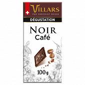 Villars tablette dégustation chocolat noir aux pépites de café 100g